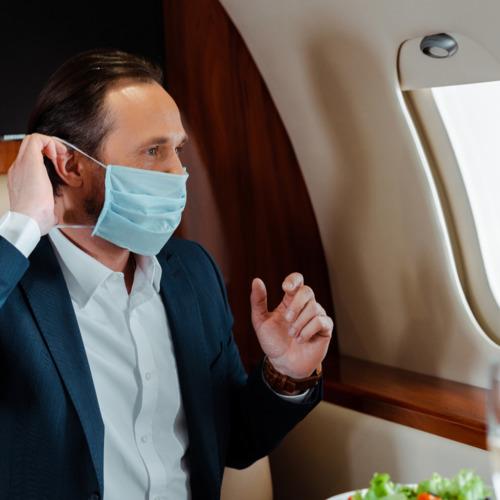 private jet passenger covid